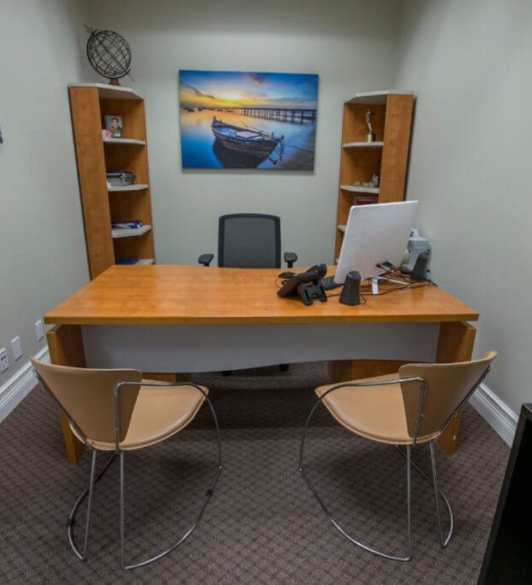 An interior office space in Boca Raton Florida.