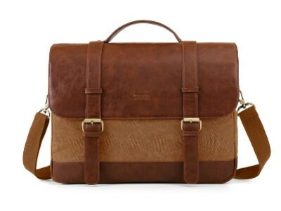Ecossusi brown briefcase bag