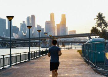 Man jogging during daytime