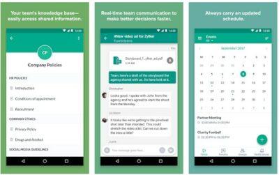 Screenshot of Zoho Connect interface