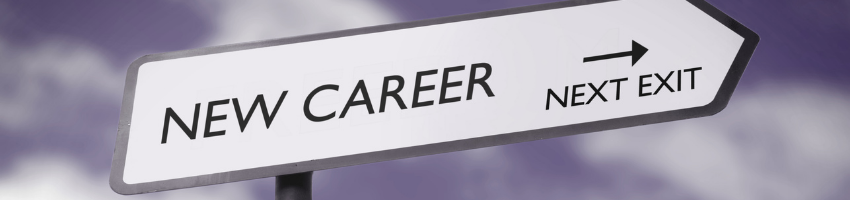An arrow signage pointing to a new career.